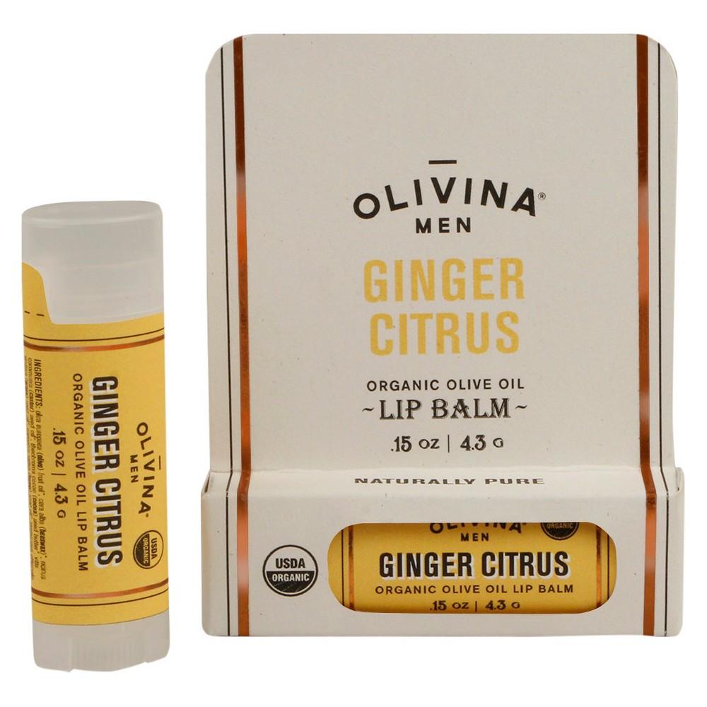 Image of Olivina Men Ginger Citrus Organic Lip Balm - 0.15oz