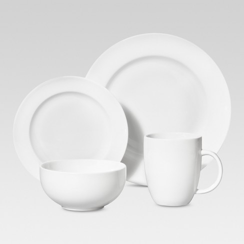 Porcelain 16pc Dinnerware Set White Threshold