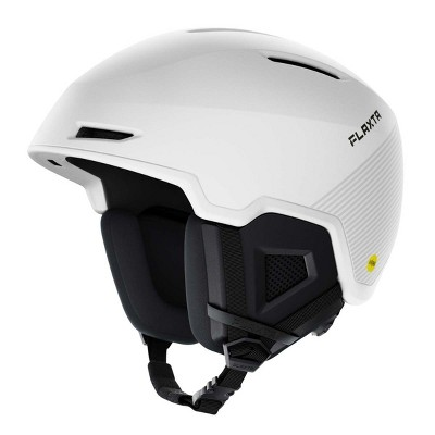 Flaxta Exalted MIPs Protective Ski and Snowboard Helmet with Size Adjustment System, Medium/Large Size, White