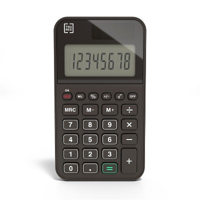 TRU RED TR130 8-Digit Pocket Calculator, Black