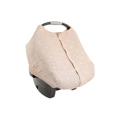 Little Unicorn Cotton Muslin Car Seat Canopy - Taupe Cross