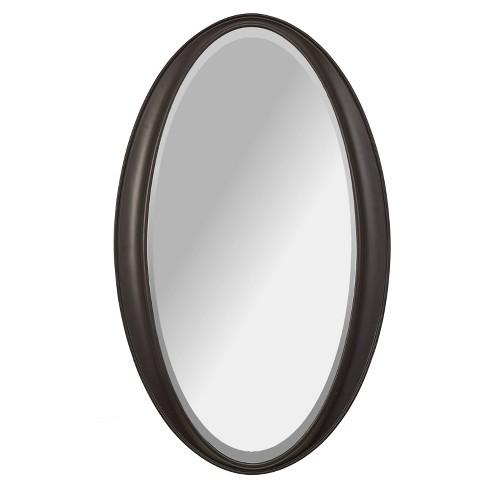 "Alpine Laurn 24"" X 38"" Oval Wall Mirror - Black - image 1 of 3"