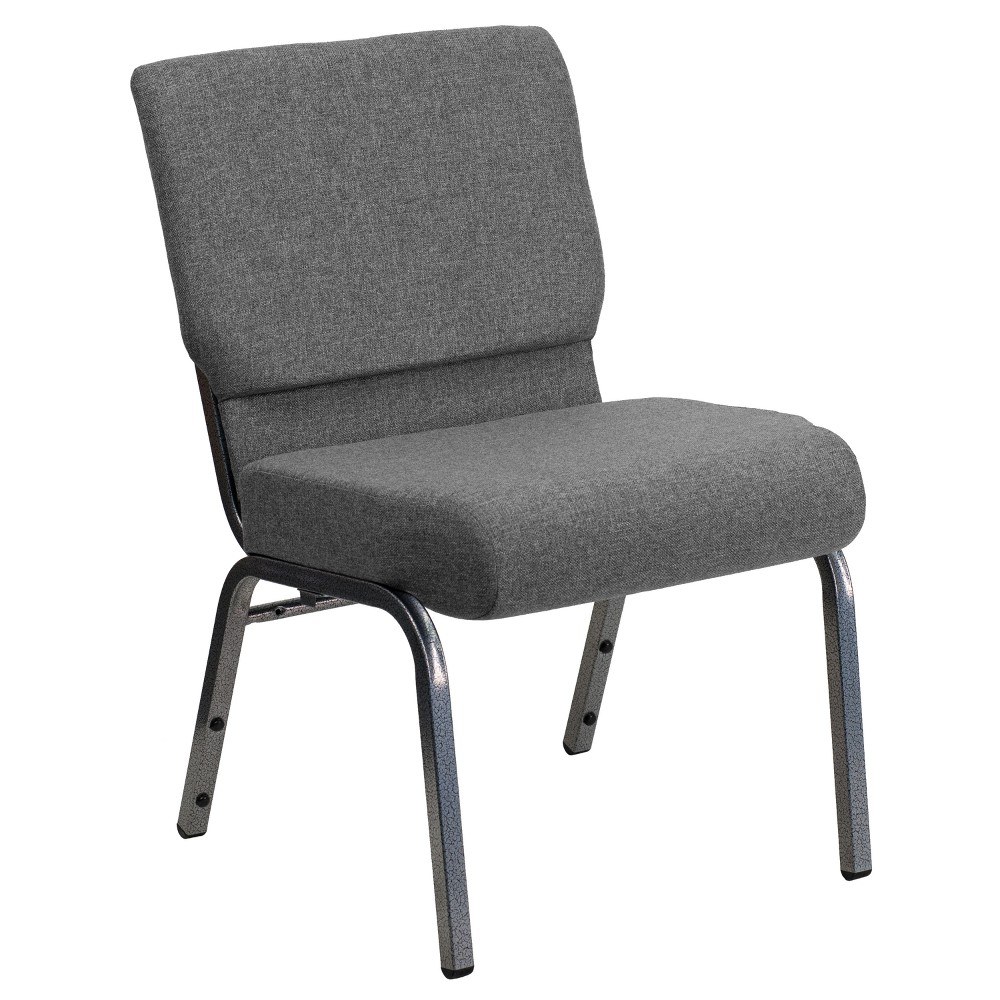Riverstone Furniture Collection Fabric Church Chair Gray