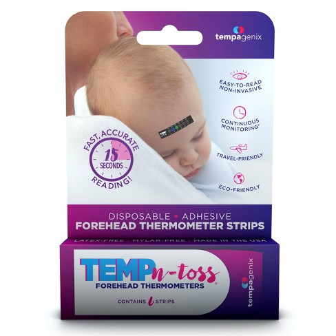 Tempagenix Temp-N-Toss Disposable Forehead Thermometer Strips - 6ct - image 1 of 4