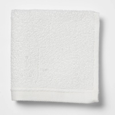 Everyday Solid Washcloth White - Room Essentials™