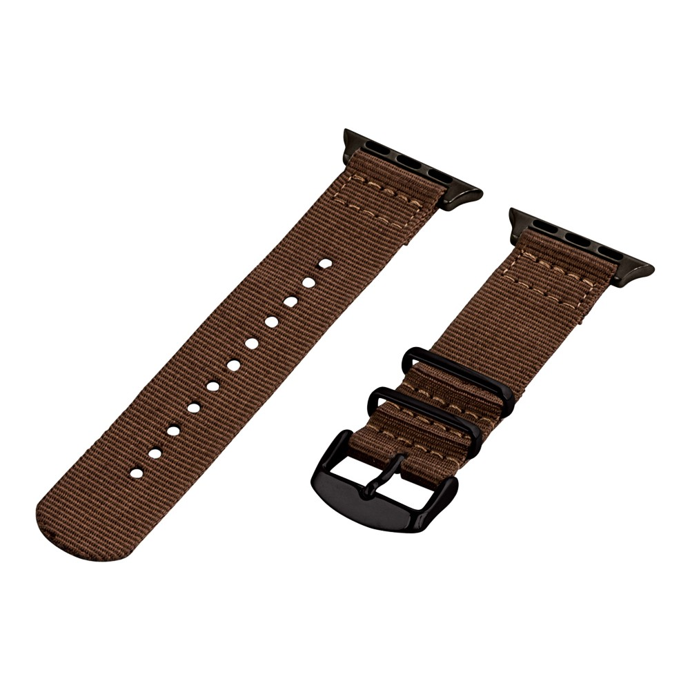 Clockwork Synergy Classic Nato 2 Apple Watch Band 38mm with Black Adapter - Brown, Adult Unisex Customize the look of your timepiece with the Classic Nato 2-Piece Apple Watch Band from Clockwork Synergy. Crafted from high-quality nylon, this brown watchband ensures long-lasting durability without sacrificing comfortable wear. With 11 adjustability holes, you'll get the perfect custom fit so your watch stays in place all day. Whether you show off the sleek brown design that pairs well with any look, or you switch it out to complement a specific outfit, you'll love sporting a unique look that complements your style. Gender: Unisex. Age Group: Adult.