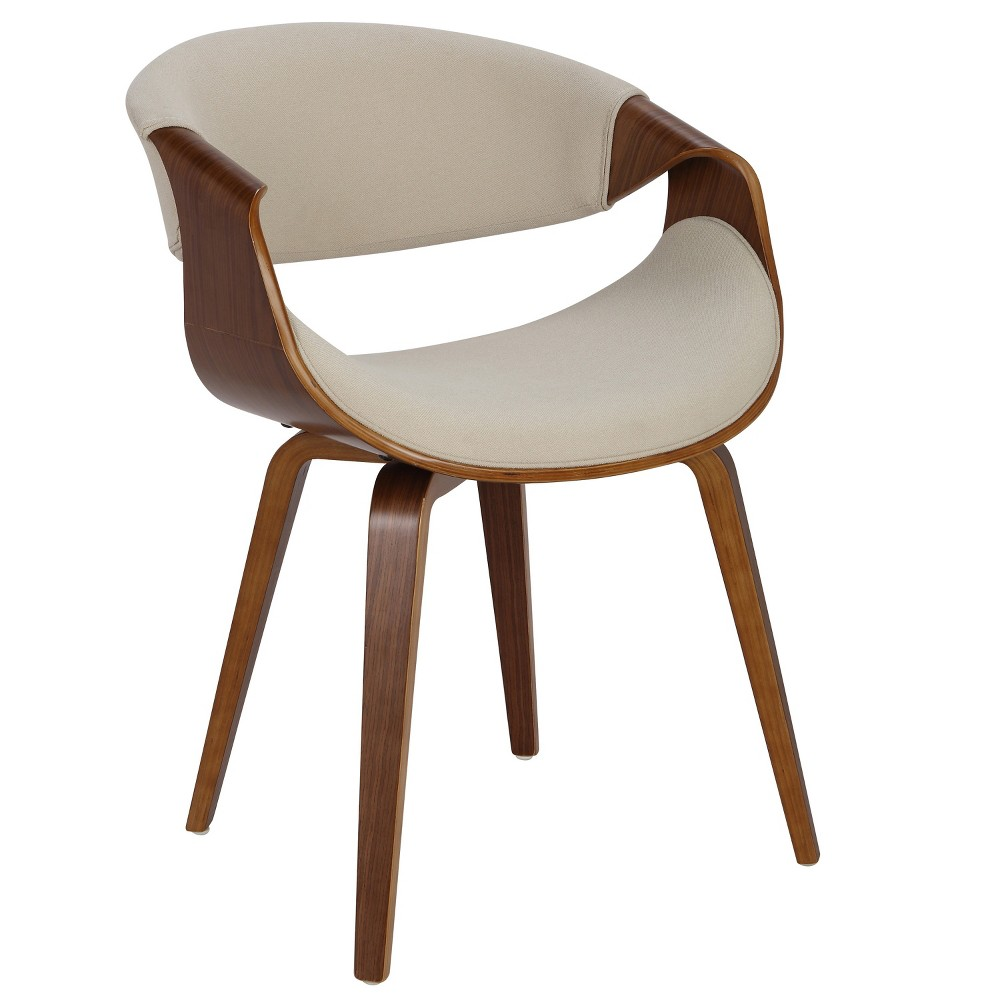 Curvo Mid Century Modern Dining Accent Chair Cream (Ivory) - LumiSource