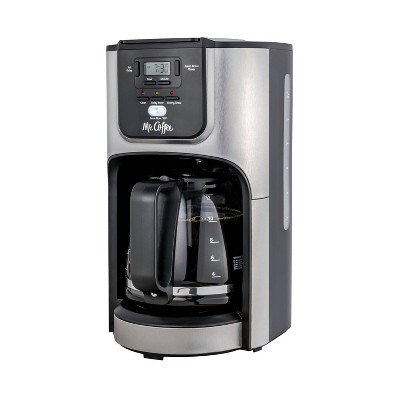 Mr. Coffee Rapid Brew 12-Cup Programmable Coffee Maker - Silver