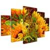 5pc Four Sunflowers by Mandy Budan - Trademark Fine Art - image 2 of 4