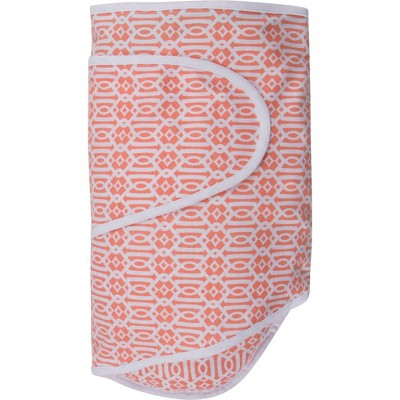 Miracle Blanket Swaddle Wrap Lattice - Coral