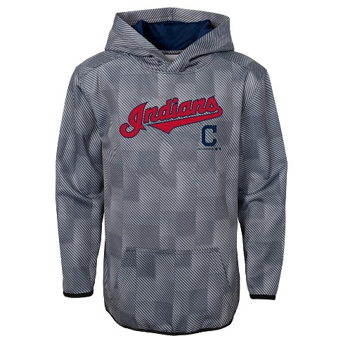 Poly Boys' Indians Pitch Cleveland Hoodie Mlb First Gray