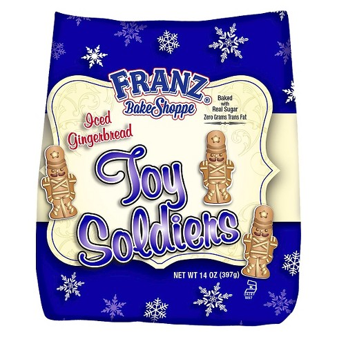 Franz Bake Shoppe Toy Soldiers Iced Gingerbread Cookies Bars 14 Oz