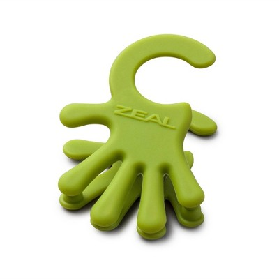 Zeal Clip to Pan Silicone Handy Spoon Rest Green