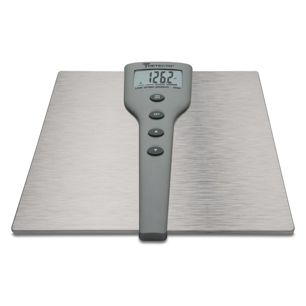 Image of 5 In 1 Silver Stainless Steel Body Fat & Body Composition Personal Scale Silver - Detecto