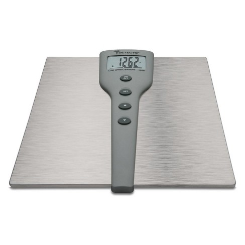5 In 1 Silver Stainless Steel Body Fat & Body Composition Personal Scale Silver - Detecto - image 1 of 1