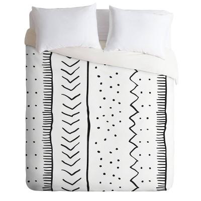 Becky Bailey Moroccan Stripe Comforter Set Black/White - Deny Designs