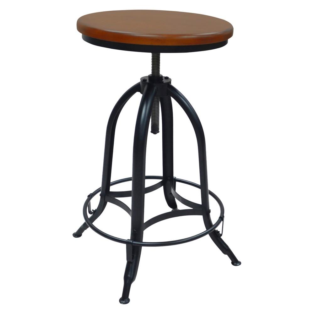 Image of Wren Adjustable Stool Chestnut/Black - Carolina Chair and Table