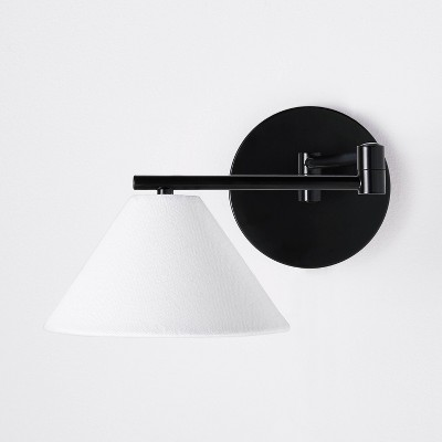 Metal Downbridge Shaded Sconce Wall Light (Includes Energy Efficient Light Bulb) Black - Threshold™ designed with Studio McGee