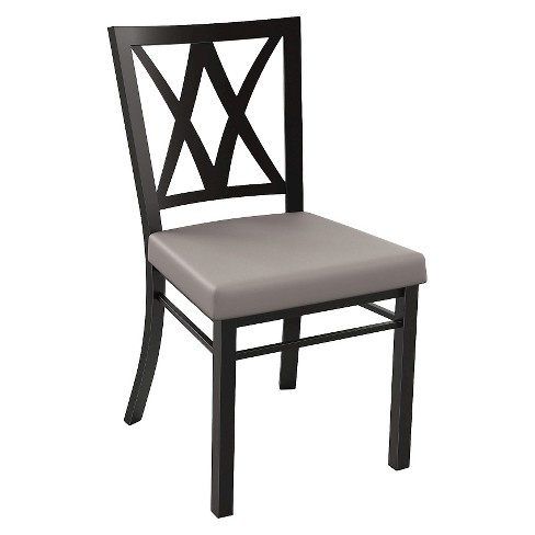 Washington Dining Chair Metal/Brown - Amisco - image 1 of 2