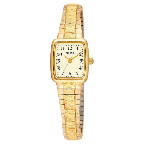 Women's Pulsar Expansion Watch - Gold Tone with Champagne Dial - PPH520 - image 1 of 1