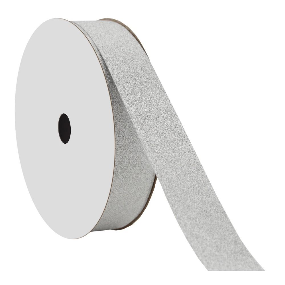 Silver Glitter Ribbon - Wondershop