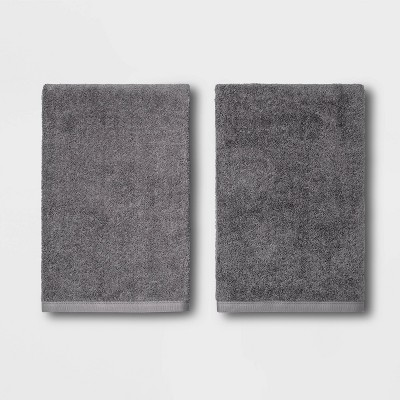 2pk Bath Towel Set Dark Gray - Room Essentials™