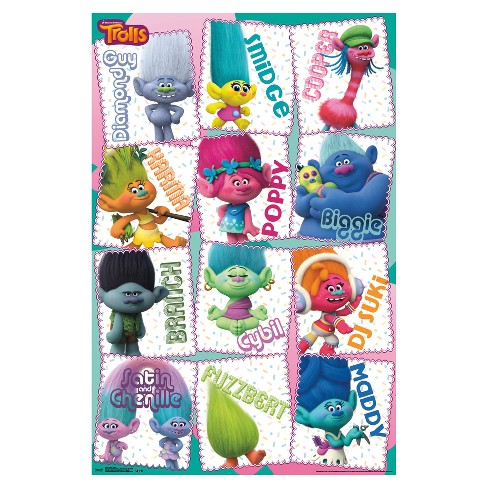 Trolls Grid Poster 34x22 - Trends International - image 1 of 2