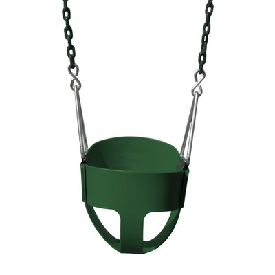 Gorilla Playsets Full Bucket Toddler Swing - Green with Green Chains
