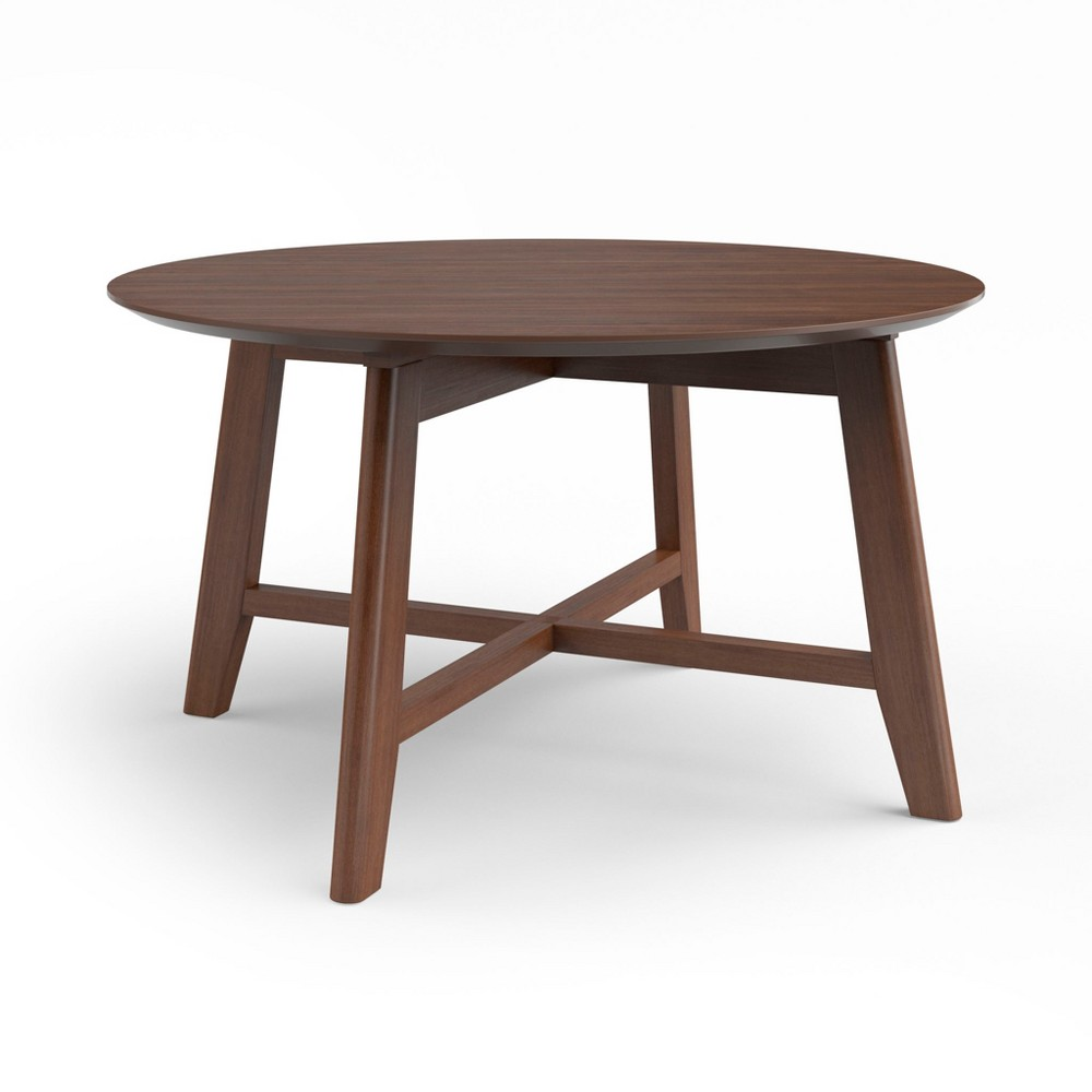 31.5 Elysian Coffee Table with Wood Table Top Walnut (Brown) - Aeon