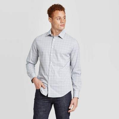 Men's Standard Fit Non-Iron Dress Long Sleeve Button-Down Shirt - Goodfellow & Co™
