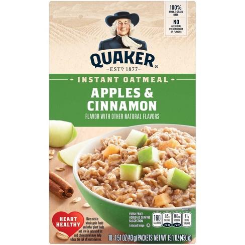 Quaker Instant Oatmeal Apple Cinnamon - 10ct - image 1 of 4
