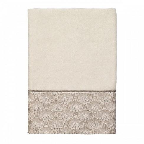 Avanti Deco Shell Bath Towel - Granite Gray - image 1 of 1