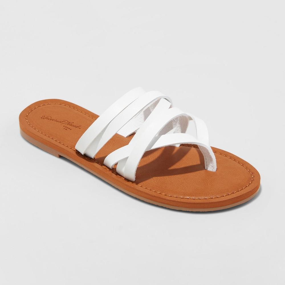 Women's Maritza Multi Strap Toe Slide Sandal - Universal Thread White 12