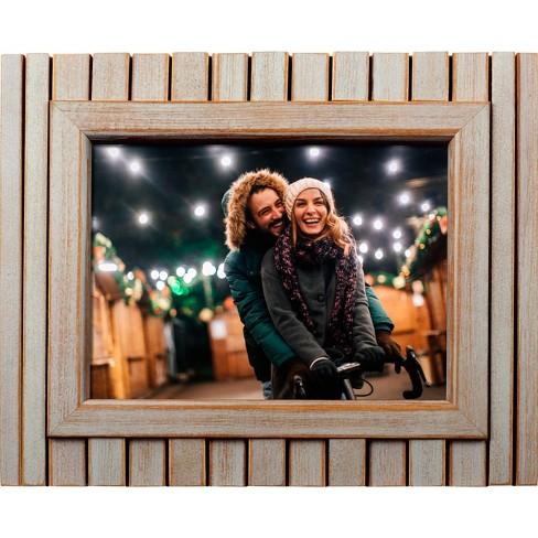 8 Digital Frame Whitewashed Wood Polaroid Target