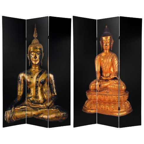 6' Tall Double Sided Thai Buddha Room Divider - Oriental Furniture - image 1 of 3
