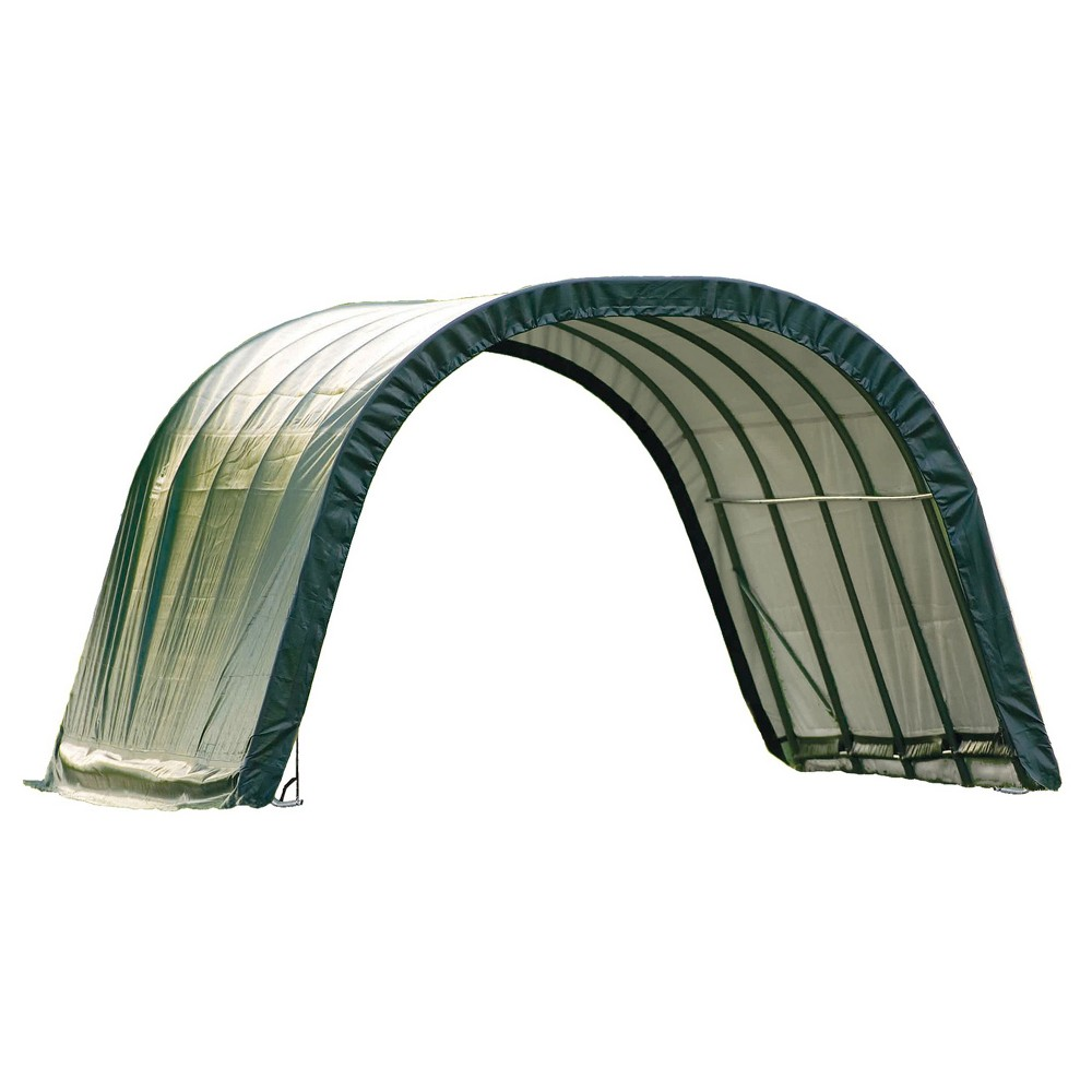 Equine Run - In Shed Round - Style12' X 12' X 8' - Green - Shelterlogic
