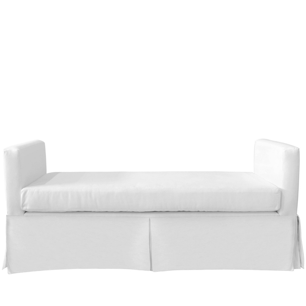 Slipcover Daybed in Twill White - Skyline Furniture