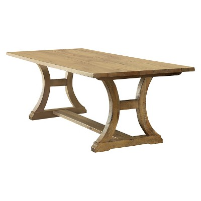 Shelia Solid Pine Wood Dining Table Rustic Light Oak - HOMES: Inside + Out