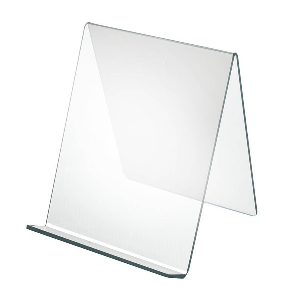 Azar Displays 9 X 9 5 X 10 5 10pk Acrylic Easel With 1 75 Front Lip