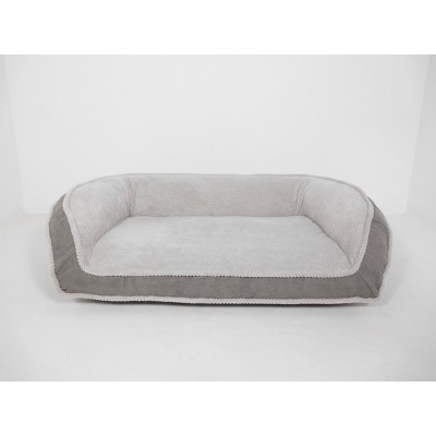 Arlee Home Fashions Orthopedic Rectangle Bolster Sofa and Couch Style Dog Bed - Charcoal - 35x22
