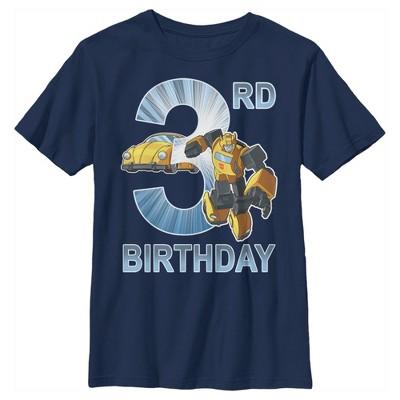 Boy's Transformers Bumblebee 3rd Birthday T-Shirt