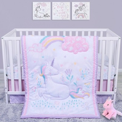Sammy and Lou Sweet Unicorn Crib Bedding Set - 4pc