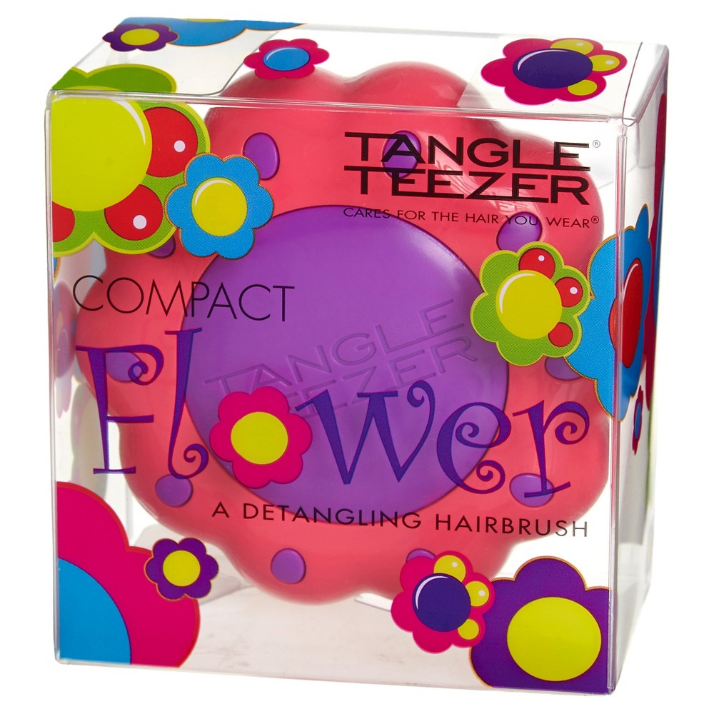 Tangle Teezer Compact Flower Detangling Hair Brush Pink & Purple