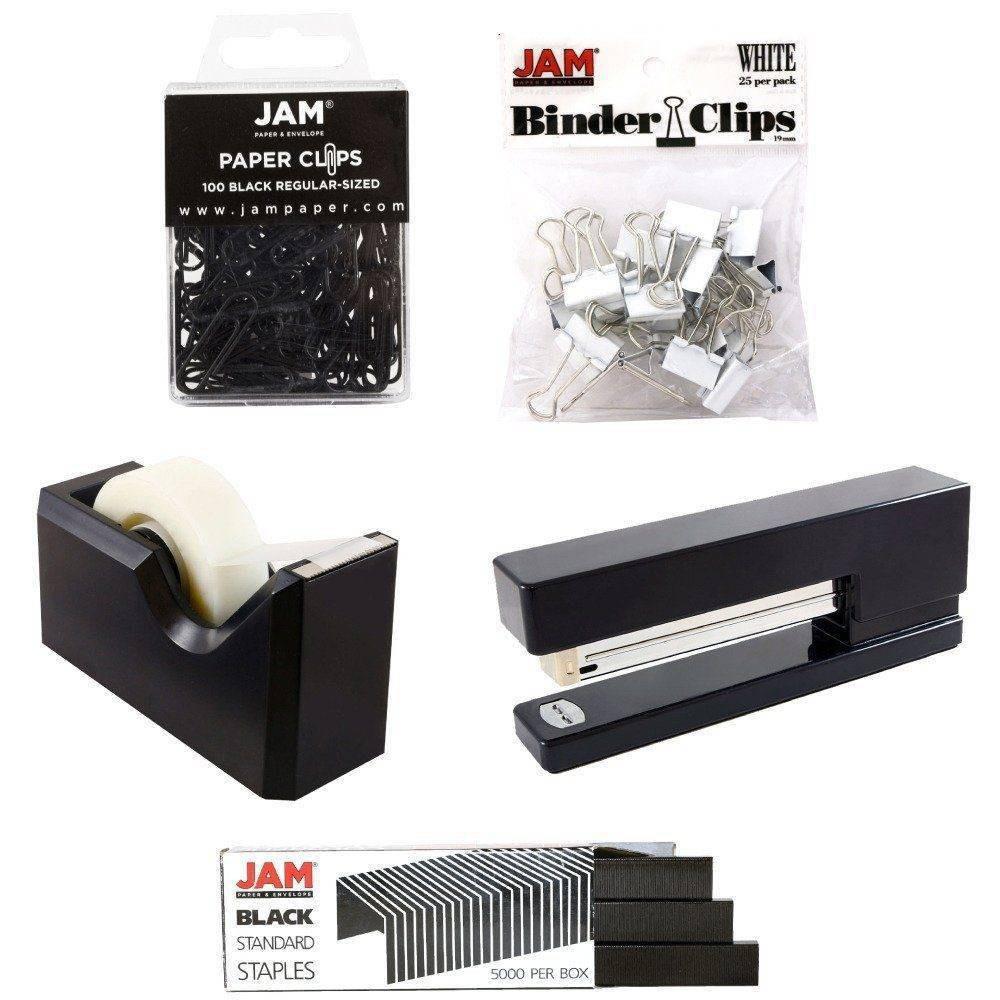 Image of JAM Paper 5pk Office Starter Kit - Black
