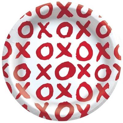 "30ct 6.75"" Disposable Snack Plates XOXO - Spritz™"