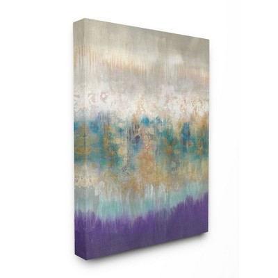 Stupell Industries Elegant Purple Grey Gold Brush Stroke Abstract Painting