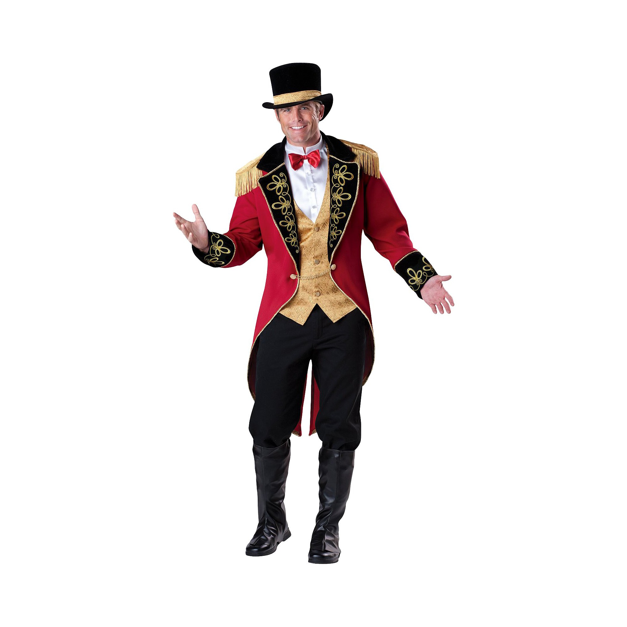 Halloween Men's Ringmaster Costume, Size: XL, MultiColored