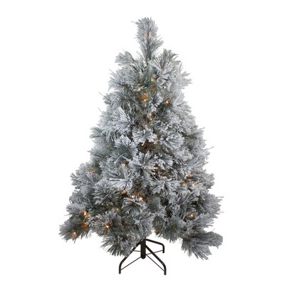 Northlight 4.5' Pre-Lit LED Black Spruce Artificial Christmas Tree - Clear Lights