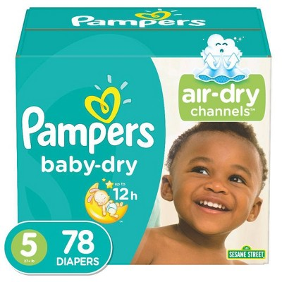 Pampers Baby Dry Diapers Super Pack Size 5 - 78ct