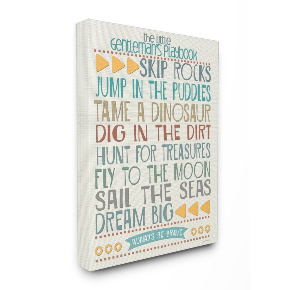 Typography Art Wall Plaque The Little Gentleman S Playbook Oversized Stretched Canvas Wall Art 24 X30 X1 5 Stupell Industries